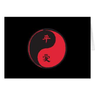 Peace and Love Yinyang Card