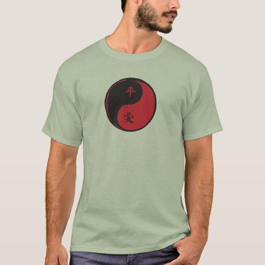 Peace and Love Yinyang T-Shirt