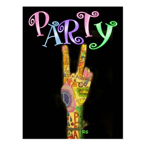 Peace and Party ! by SRF Postcard