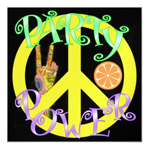 Peace and Party Power - SRF Card