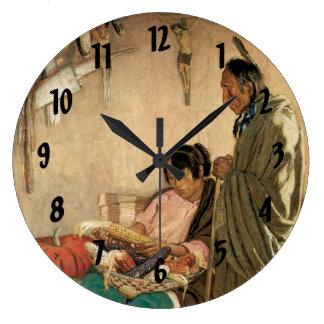 Peace and Plenty Large Clock