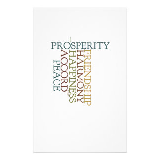 Peace and Prosperity Notepad Stationery
