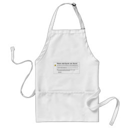 peace and quiet adult apron