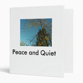 Peace and Quiet Vinyl Binders