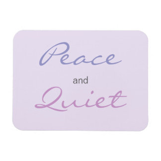 Peace and Quiet Words (Lilac) Rectangular Photo Magnet