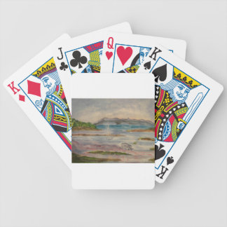 Peace and quite bicycle playing cards