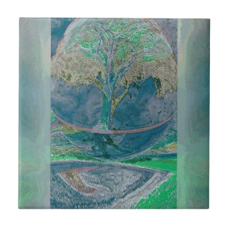 Peace and Relaxation by Amelia Carrie Ceramic Tile