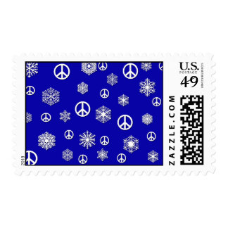 Peace and Snowflakes Holiday Postage