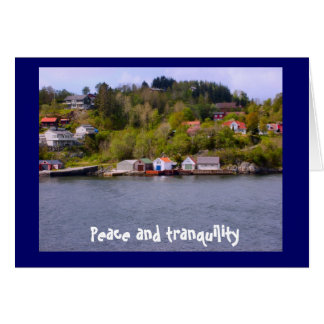 Peace and tranquility card