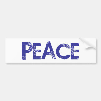 Peace And Trees Bumper Sticker