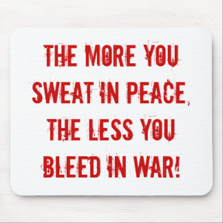 peace and war, army, navy, marines, air force mouse pad