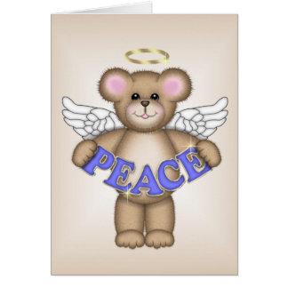 Peace Angel Bear Card