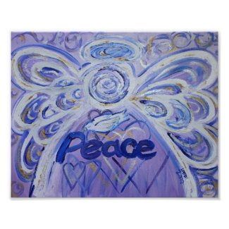 Peace Angel Inspirational Art Print Poster