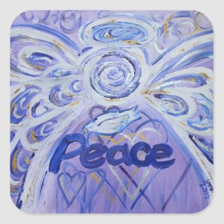 Peace Angel Inspirational Word Art Decal Stickers