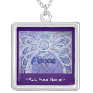 Peace Angel Necklace - Customize Name