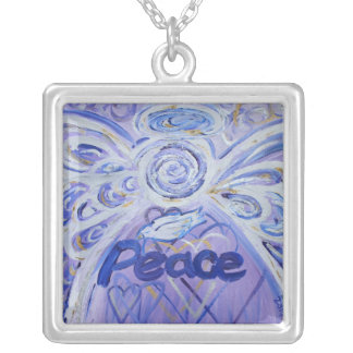 Peace Angel Silver Necklace