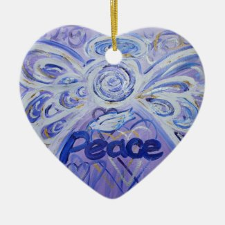 Peace Angel Word Art Gift Holiday Ornament
