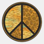 Peace Animal Pattern Sticker