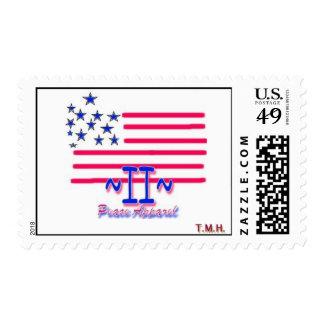 Peace Apparel Logo Flag Stamp