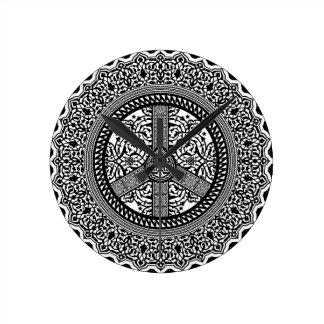Peace Arabesque Clock