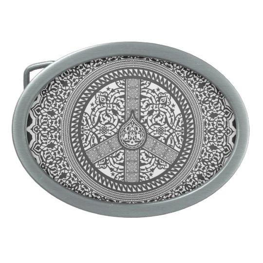 Peace Arabesque Customizable Belt Buckle