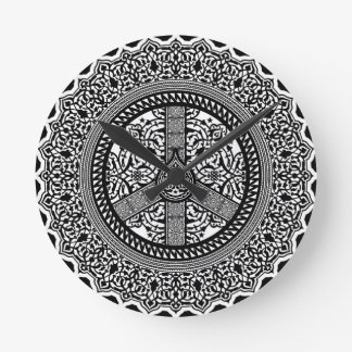 Peace Arabesque Round Clock