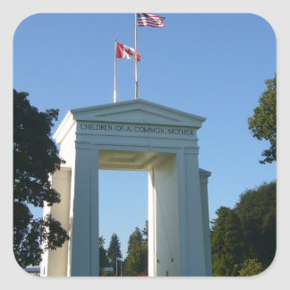Peace Arch - Washington-BC Border Square Sticker