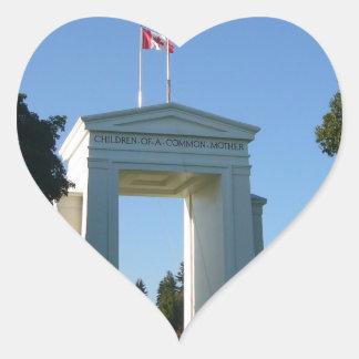 Peace Arch - Washington-BC Border Heart Sticker