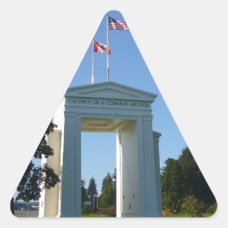Peace Arch - Washington-BC Border Triangle Sticker