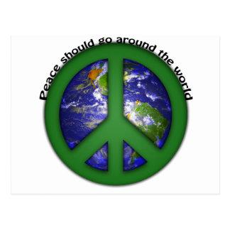 Peace around the world postcard