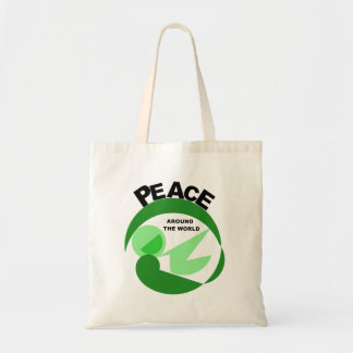 Peace around the world with vector image bag