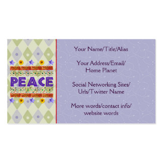 Peace Art Business Card