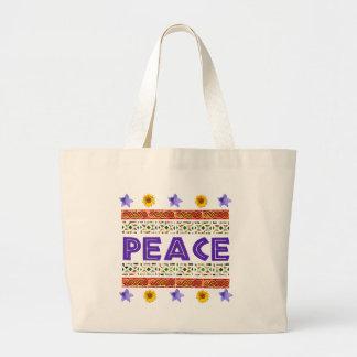Peace Art Large Tote Bag