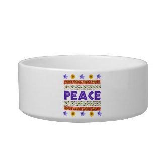 Peace Art Cat Water Bowl