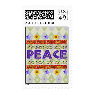 Peace Art Postage Stamps