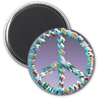 Peace Art Symbol 2 Inch Round Magnet