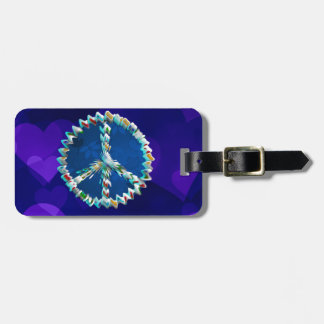Peace Art Symbol Bag Tag