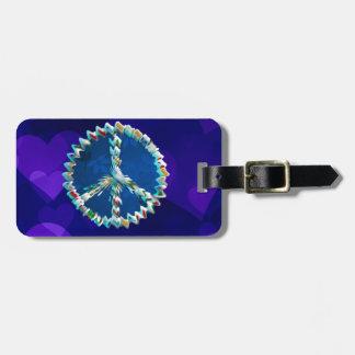 Peace Art Symbol Bag Tag
