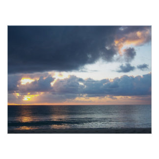 Peace at Sunrise on Del Ray Beach Poster