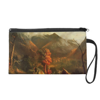 Peace at Sunset by Thomas Cole Wristlet Purse