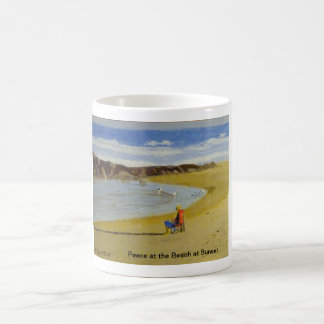 Peace at the Beach at Sunset Coffee Mug