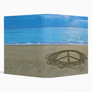 peace at the ocean binder