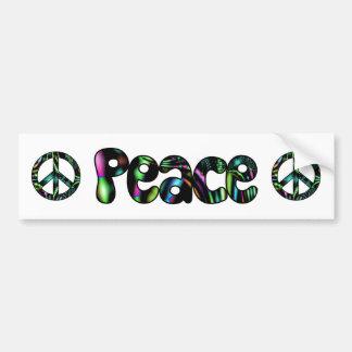 Peace Aurora Fractal Bumper Sticker