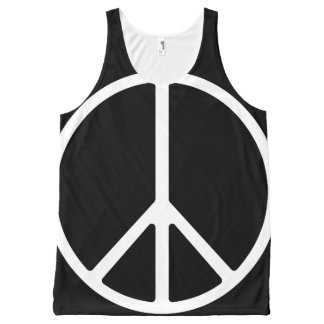 Peace B&W All-Over Print Tank Top