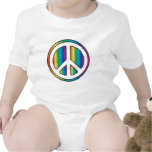 Peace baby tee shirts