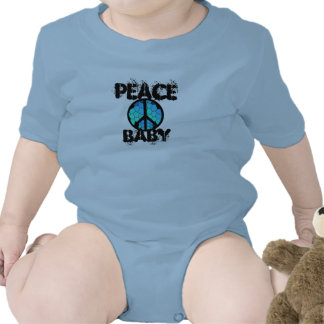 Peace Baby with Peace Symbol Baby Bodysuit