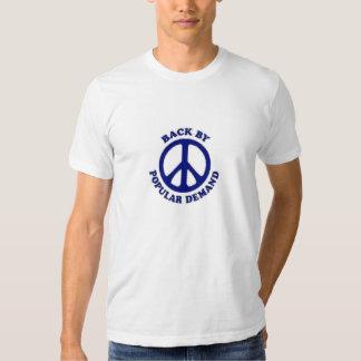 Peace Back By Popular Demand~Navy Blue T Shirt