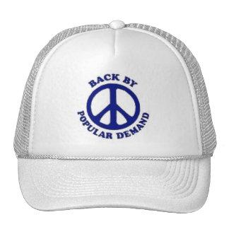 Peace Back By Popular Demand~Navy Blue Trucker Hat