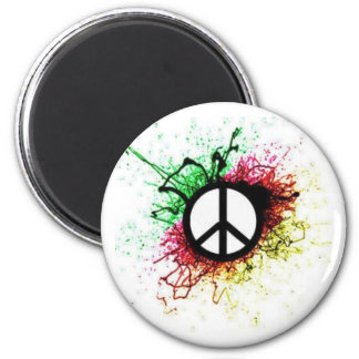 Peace Badge : 2 Inch Round Magnet