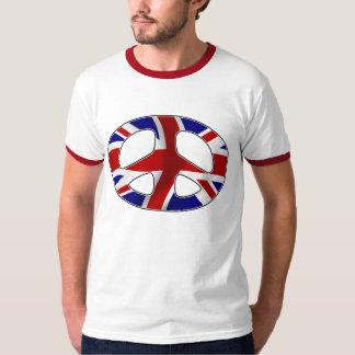 peace badge uk t shirt